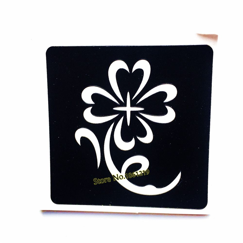 1PC Henna Sunflower Waterproof Tattoo Stencils For Women Makeup ...