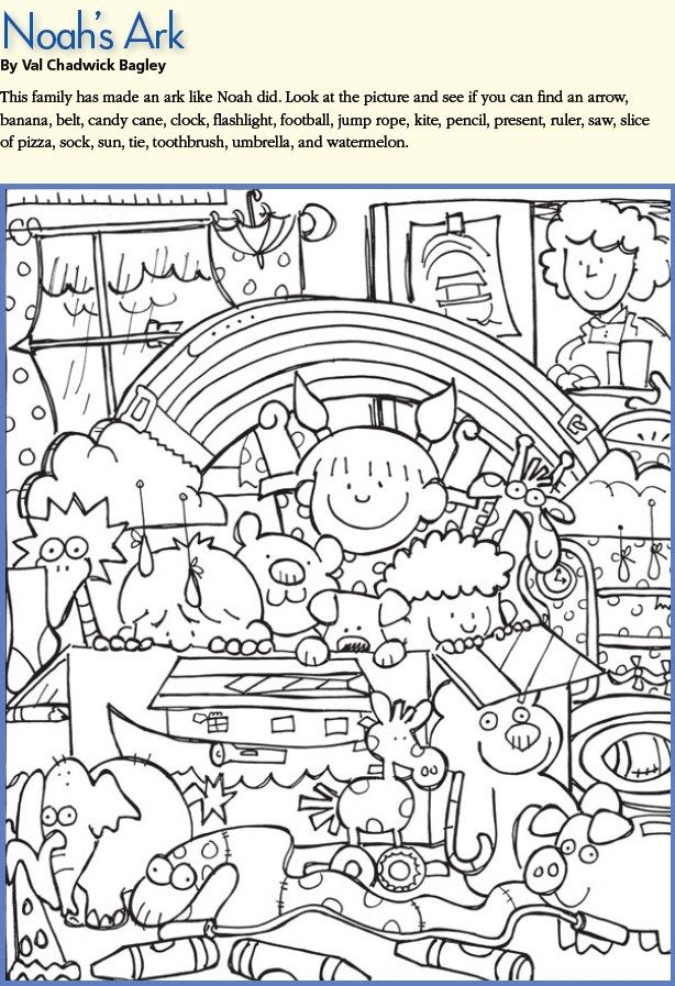 Find and Color - Noah\'s Ark. Lots more activities to print ...