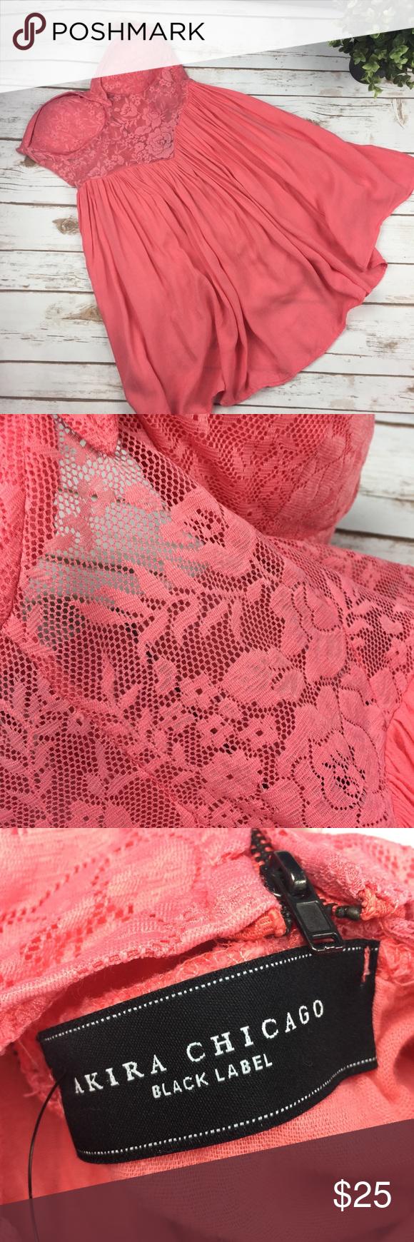 Pink see through lace dress  Akira Chicago pink strapless dress see thru bodice  Akira chicago