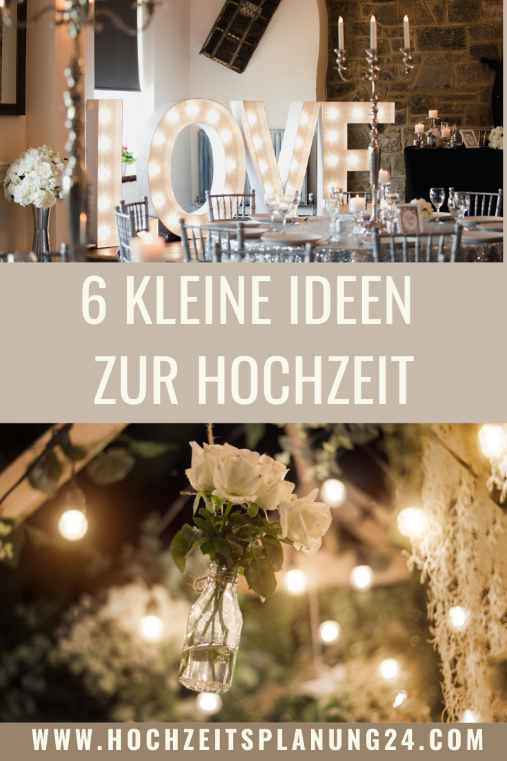Photo of 6 little ideas for the wedding