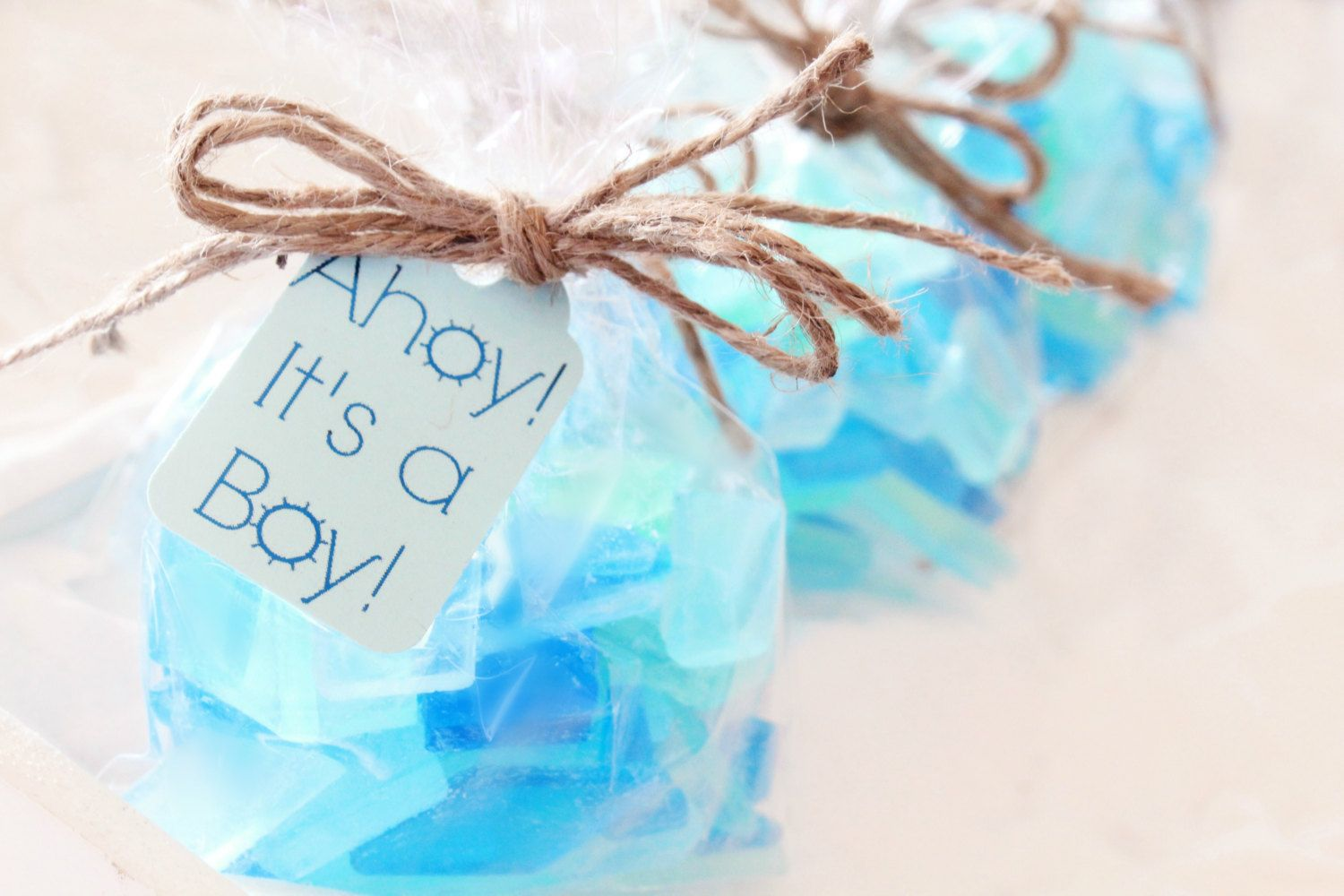 Beach Baby Shower Favors - Blue Baby Shower Favors - It\'s a Boy ...