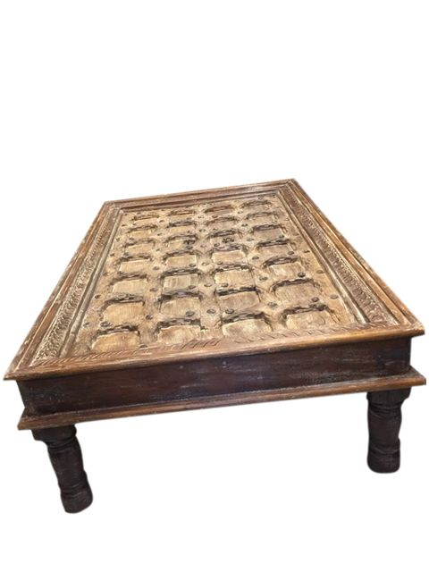 Antique Coffee Table Hand Carved Indian Furniture