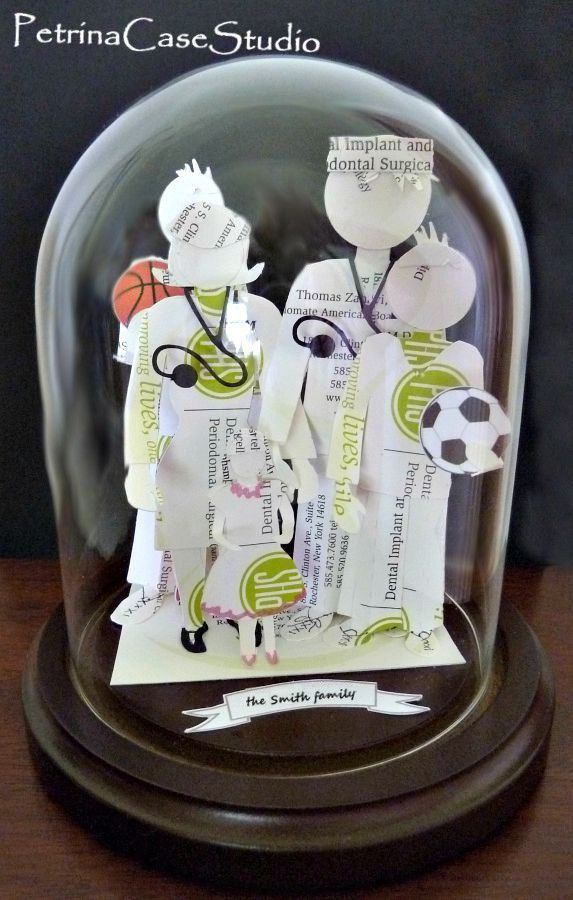 Family Business Card Sculpture. Five member family design. Made from ...