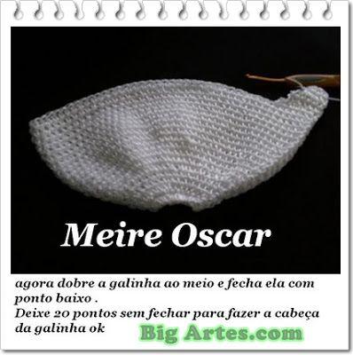 BIG artes - Blog: PAP Galinha em Crochê Feita com Alínea Seda São Francisco