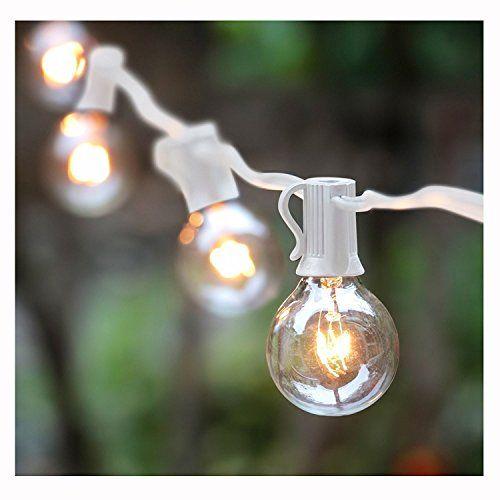 25ft g40 globe string light set ul listed outdoor market lights for