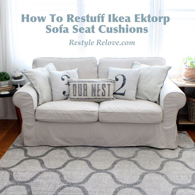 Cool How To Restuff Ikea Ektorp Sofa Cushions Cheap Easy And Cjindustries Chair Design For Home Cjindustriesco