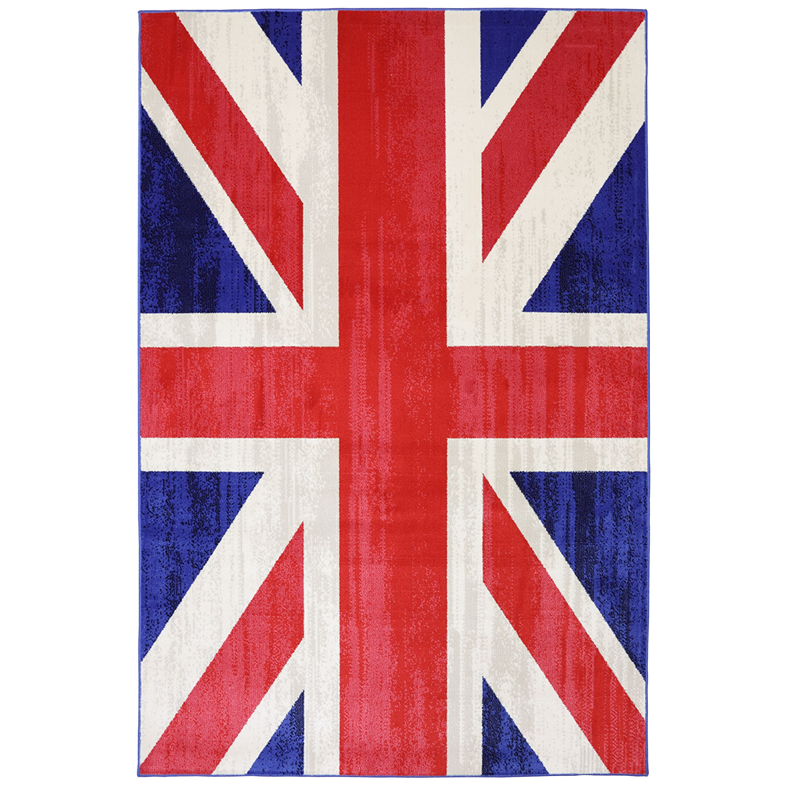 celebrate your inner patriot by adding this union jack rug to your