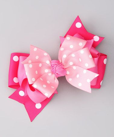 Take a look at this Pink Polka Dot Clip by Bubbly Bows on #zulily today!