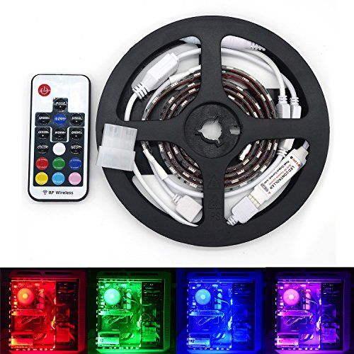 staroad computer desktop pc rgb led lights kits with 2 pieces connector waterproof 5050 smd motion leds strip with remote controller for car stairs