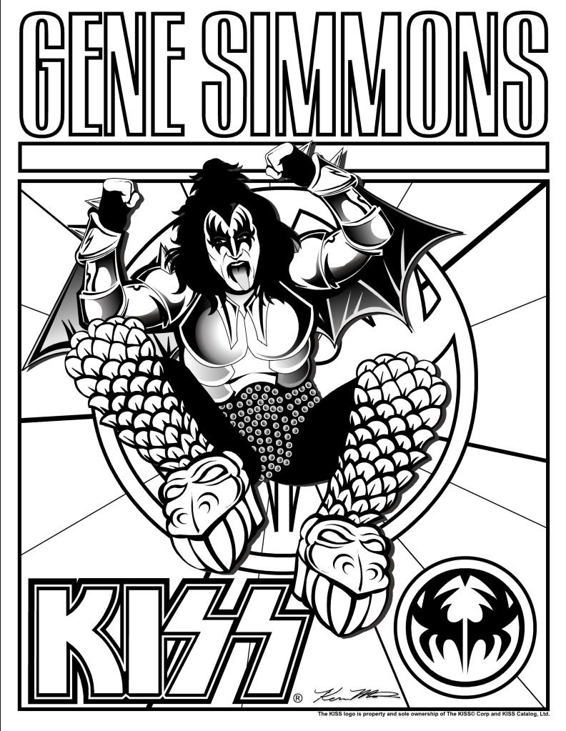 Adult Top Kiss Band Coloring Pages Gallery Images top 1000 images about kiss collectables and party stuff on pinterest band heavy metal gallery images