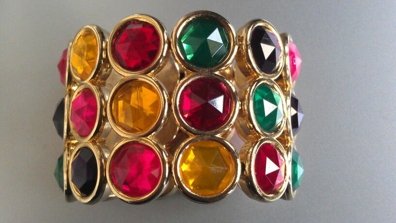 THE EID COLLECTION Multi color stretchable hand cuff. Rs.1250 each. Hand picked from Thailand. All handwork with rhinestones & pearls. Book your order for Eid at 0321-2027315 SMS or Whatsapp or viber.
