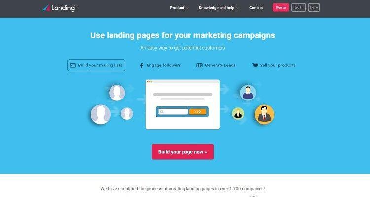 Landingi, landing page semplici e efficaci