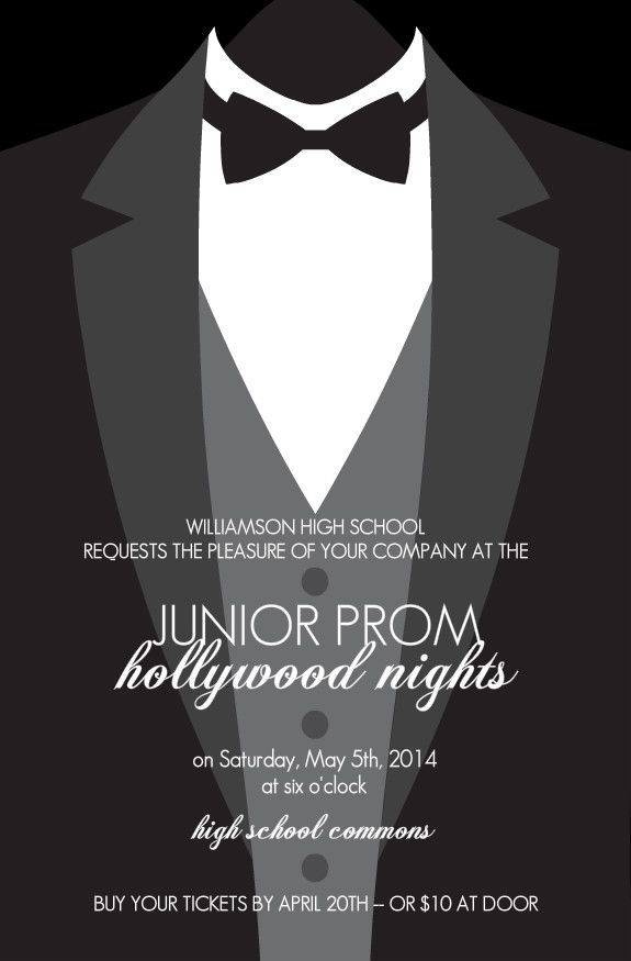 Fomal Tuxedo Prom Invitation prom Pinterest – Prom Invitation Templates