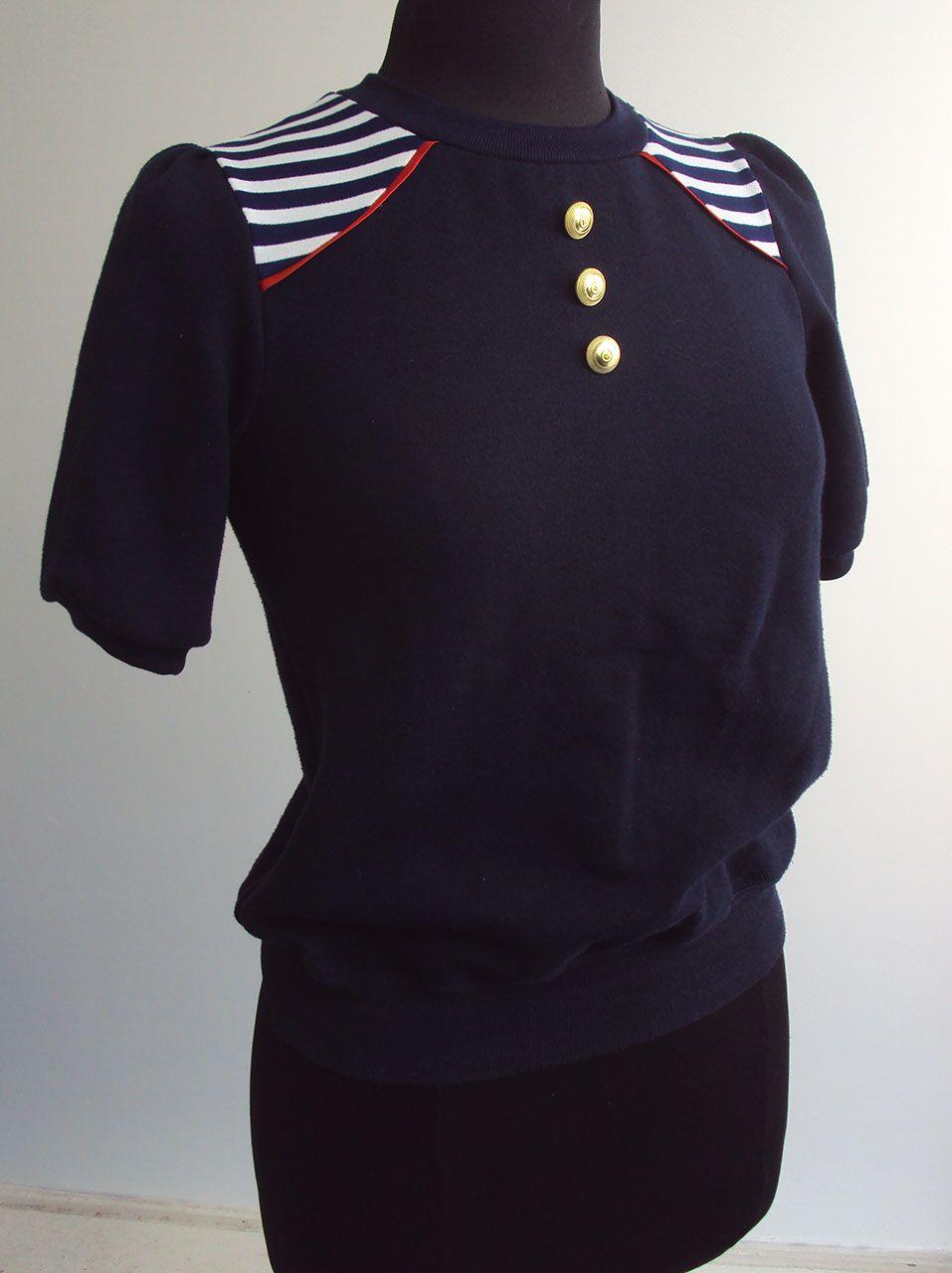 'So, Zo...': Refashion Friday Inspiration: Contrast Shoulder Panel Sweatshirt