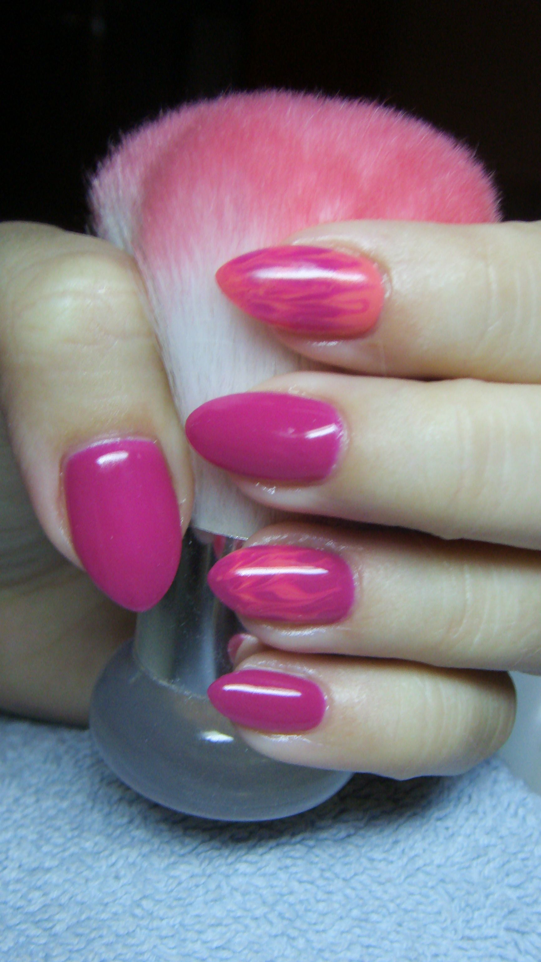 Dark pink nails | nails | Pinterest | Dark pink nails and Pink nails