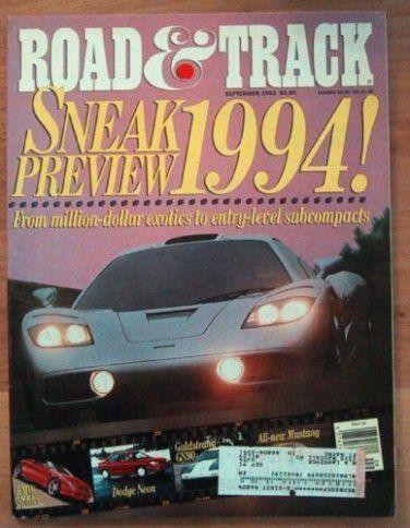 Ivanhoe162 on Ecrater-The Great Ebay Alternative: ROAD & TRACK 1993 SEPTEMBER - McLAREN F1, CRX VTi,...
