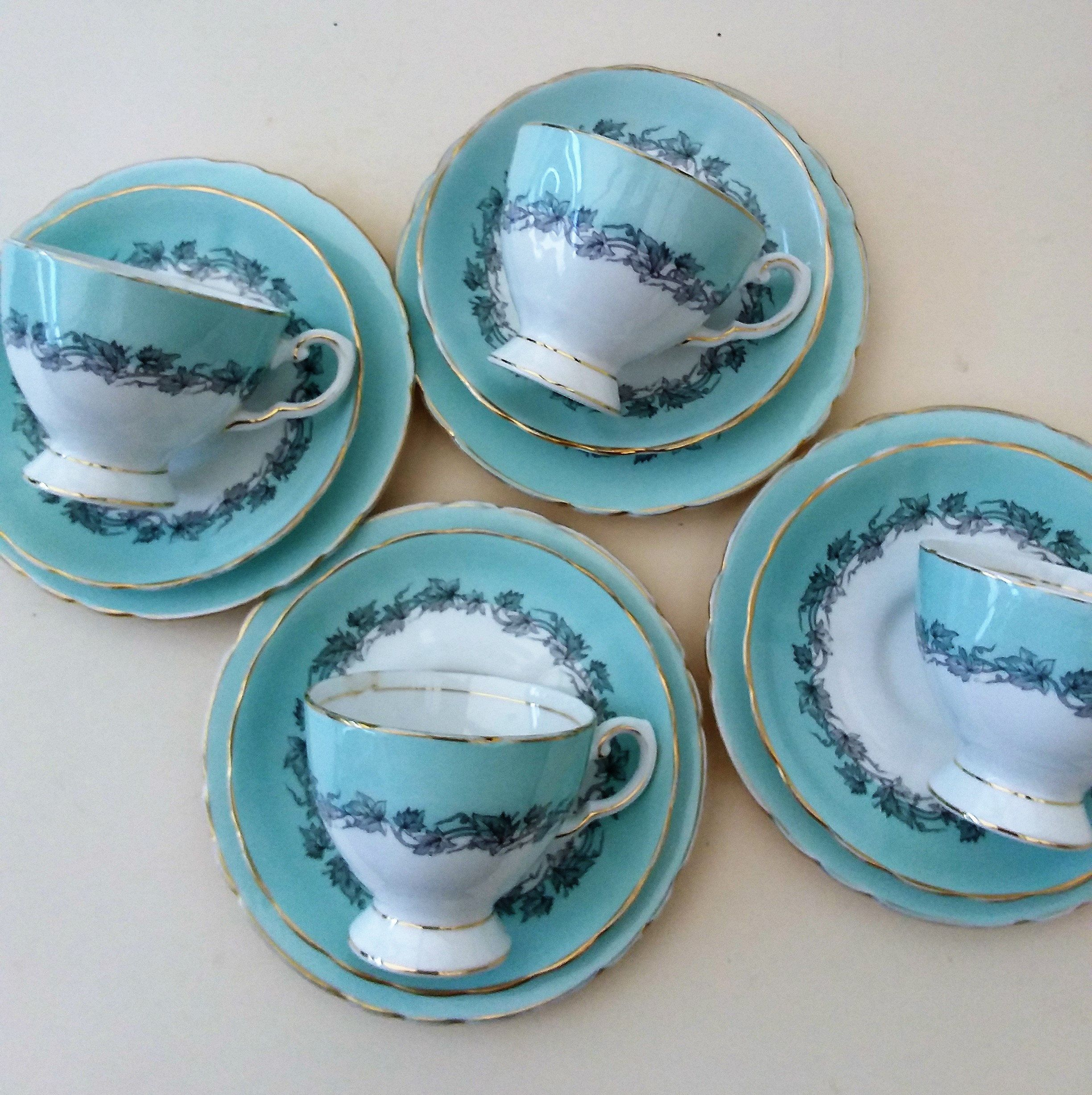 Royal Tuscan China Trio Chinacraft Aristocrat Tea Cups Saucers And Plates Trios Of Fine English China English China China Tea Sets Tea Cups