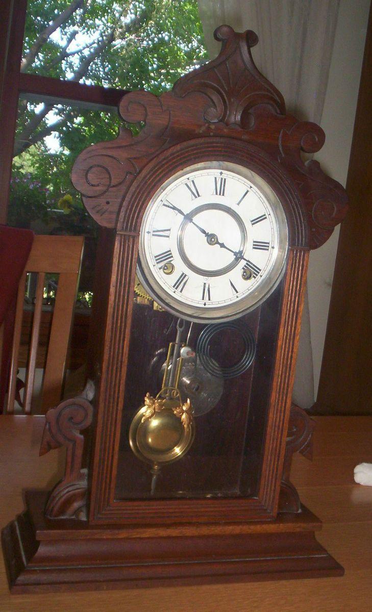 Gilbert Clock Co Wooden Mantel Shelf By George B Owen 1881