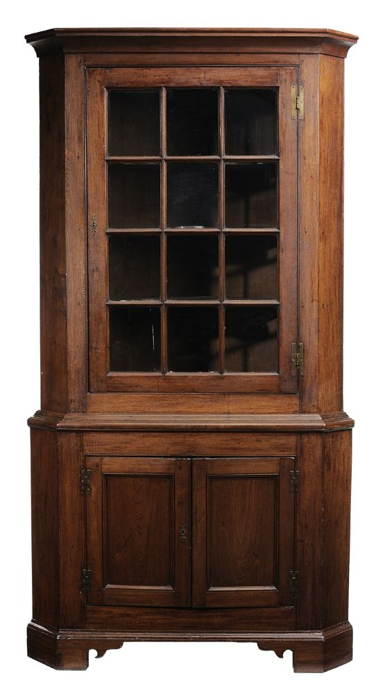 Southern Chippendale walnut corner cupboard probably Virginia ...