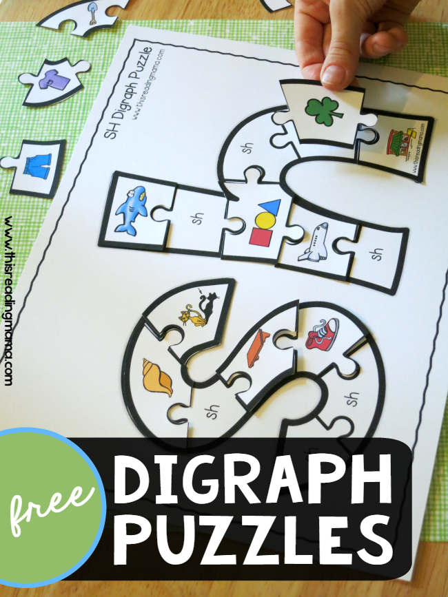 FREE Printable Digraph Puzzles Phonics activities