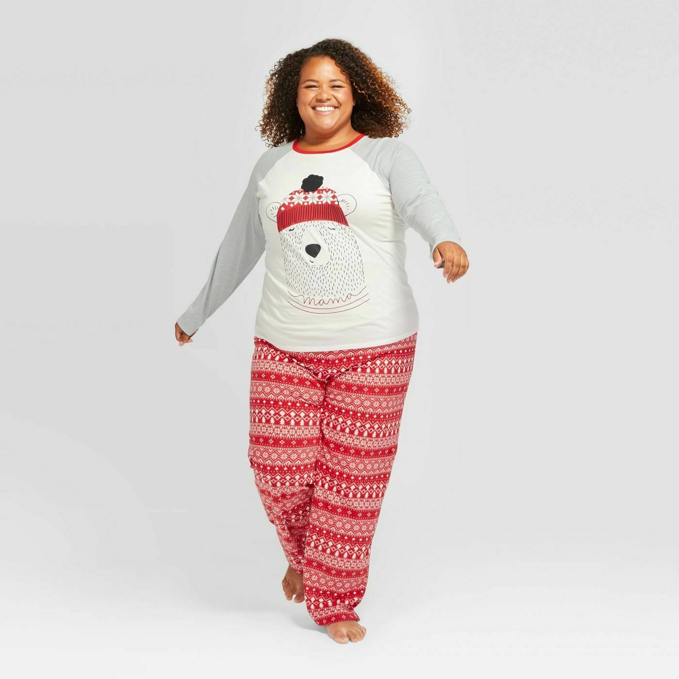 Details about Women's Plus Size Holiday Mama Bear Pajama