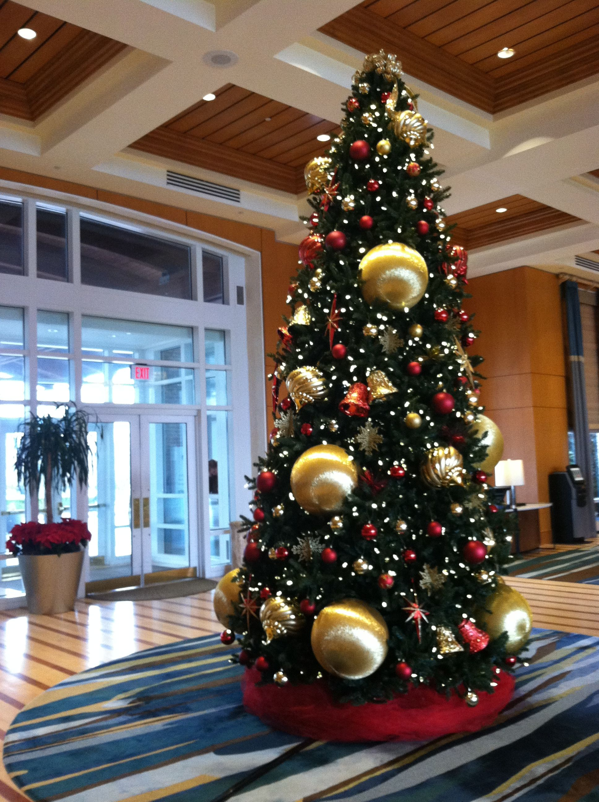our 15ft christmas tree is ready to greet you in the lobby ochristmastree hyattregencychesapeakebay