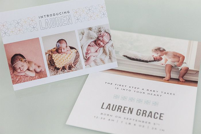 Modular Birth Announcements & Sales Kit: Modernist Collection | Design Aglow