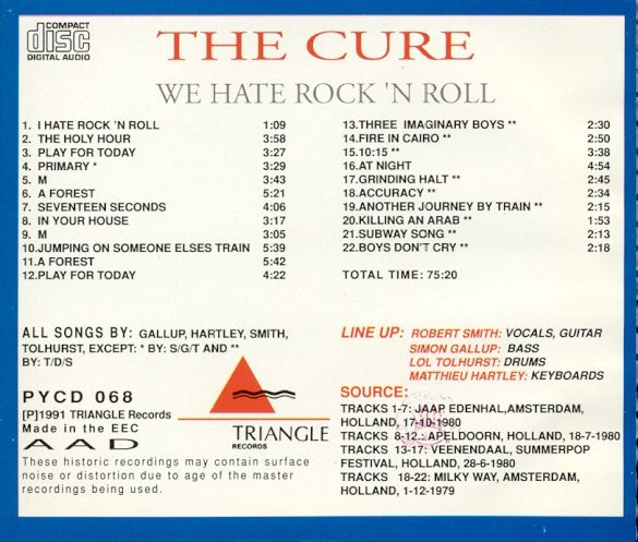 Compilation of early live excerpts 1979-1980.