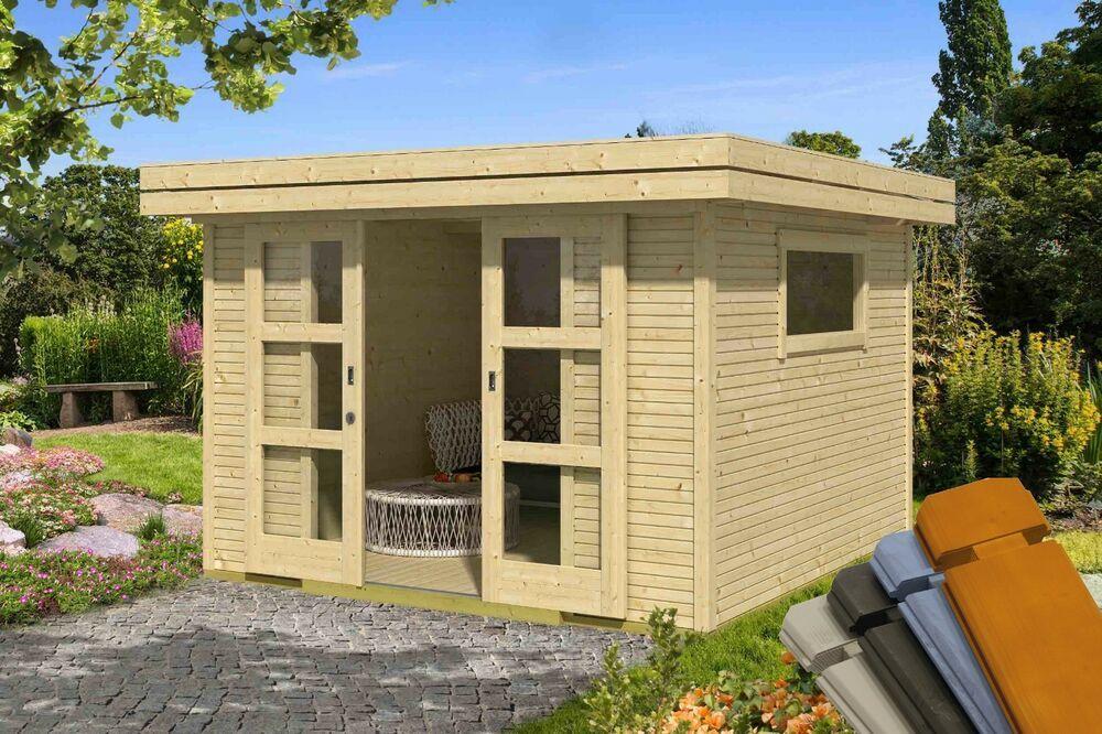 28 mm Gartenhaus Faro 7 ca. 300x300 cm GerÃtehaus