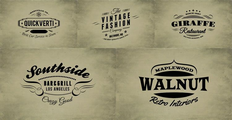 10 Free Vintage Logo Badge Template Collections Logo Templates Vintage Logo Vintage Template