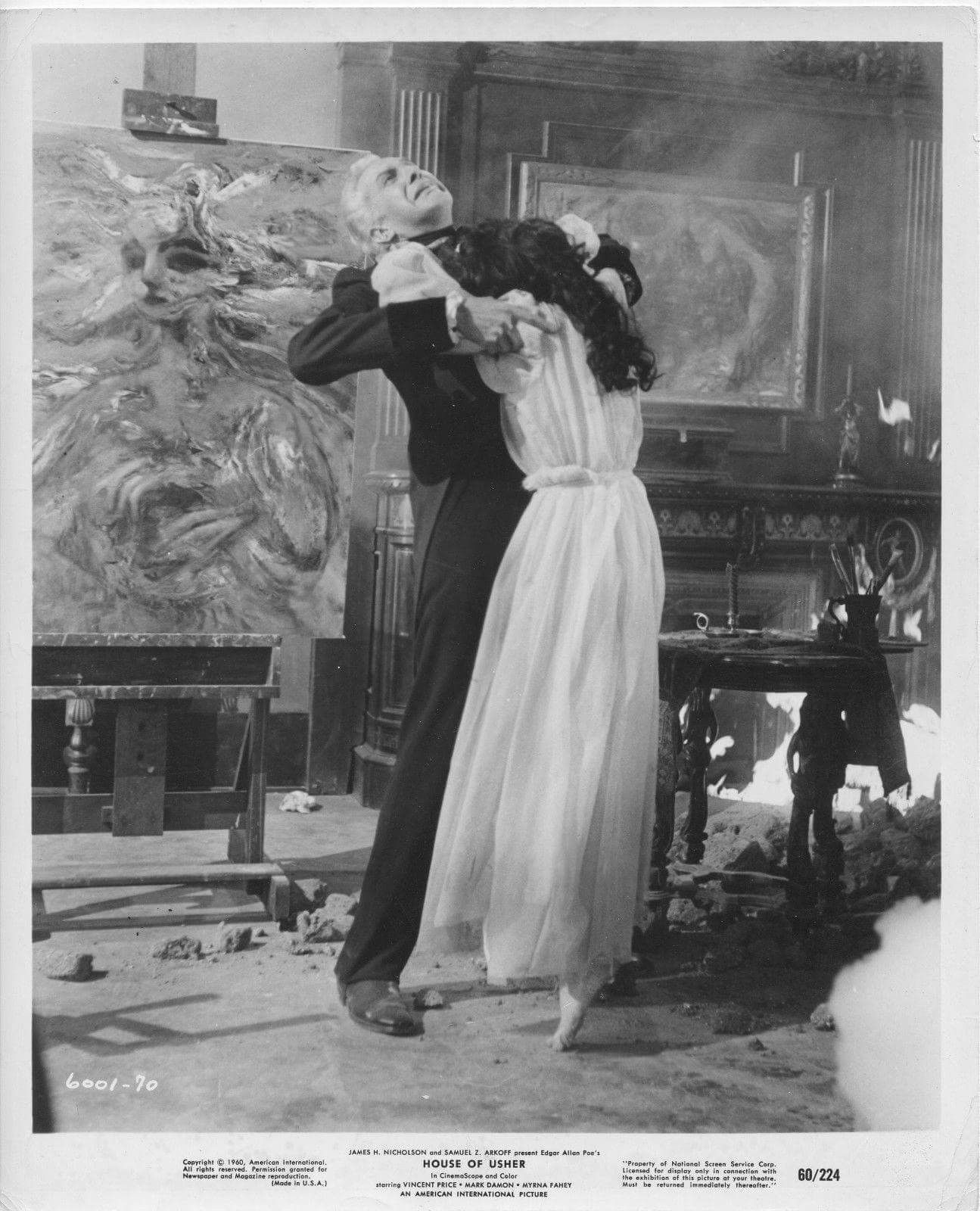 Vincent Price as Roderick Usher With Myrna Fahey as ...
