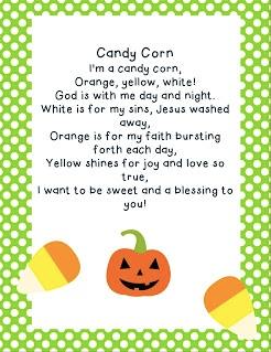 Candy Corn Bookmarks for Sunday school. Psalms 10434 My