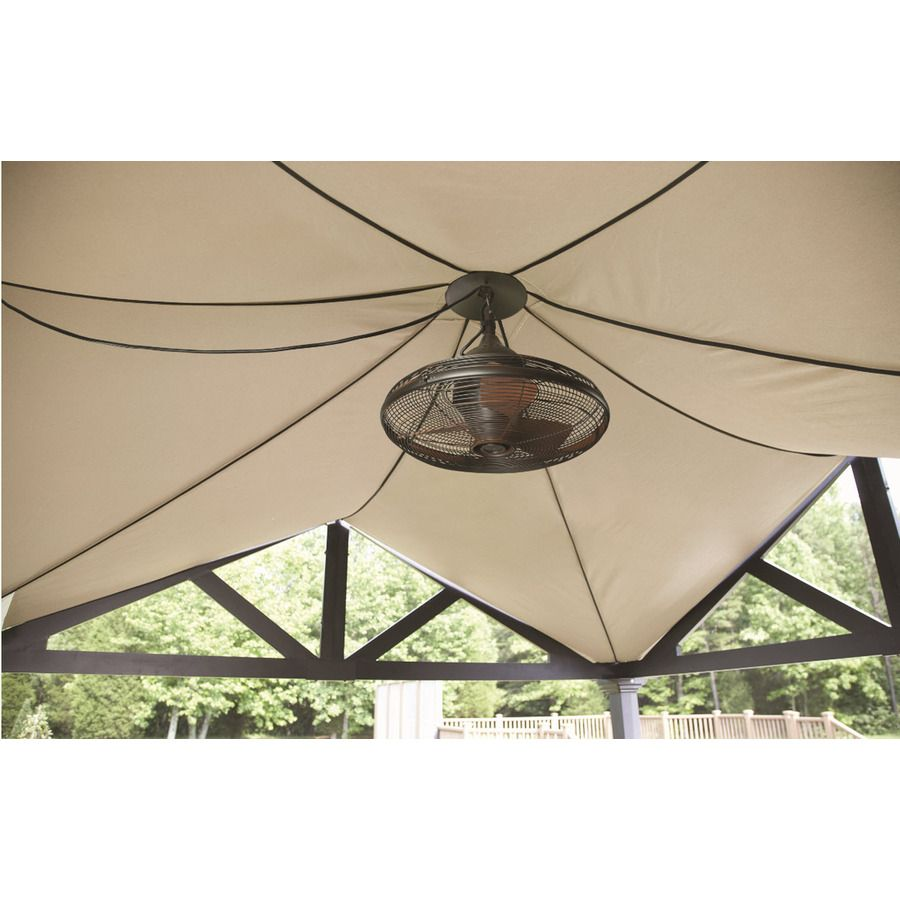 Allen Roth Valdosta 20 In Oil Rubbed Bronze Outdoor Downrod Mount Ceiling Fan 3 Blade At Lowes Com