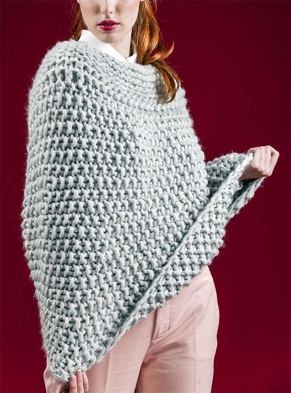 Free Knitting Pattern for Easy Manhattan Poncho - This ...