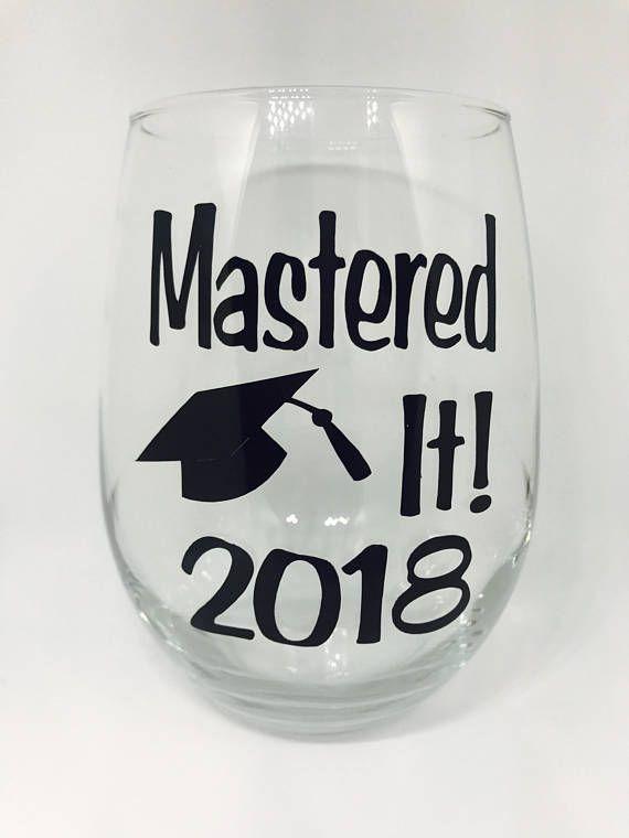 mastered it  21oz stemless wine glass - graduation