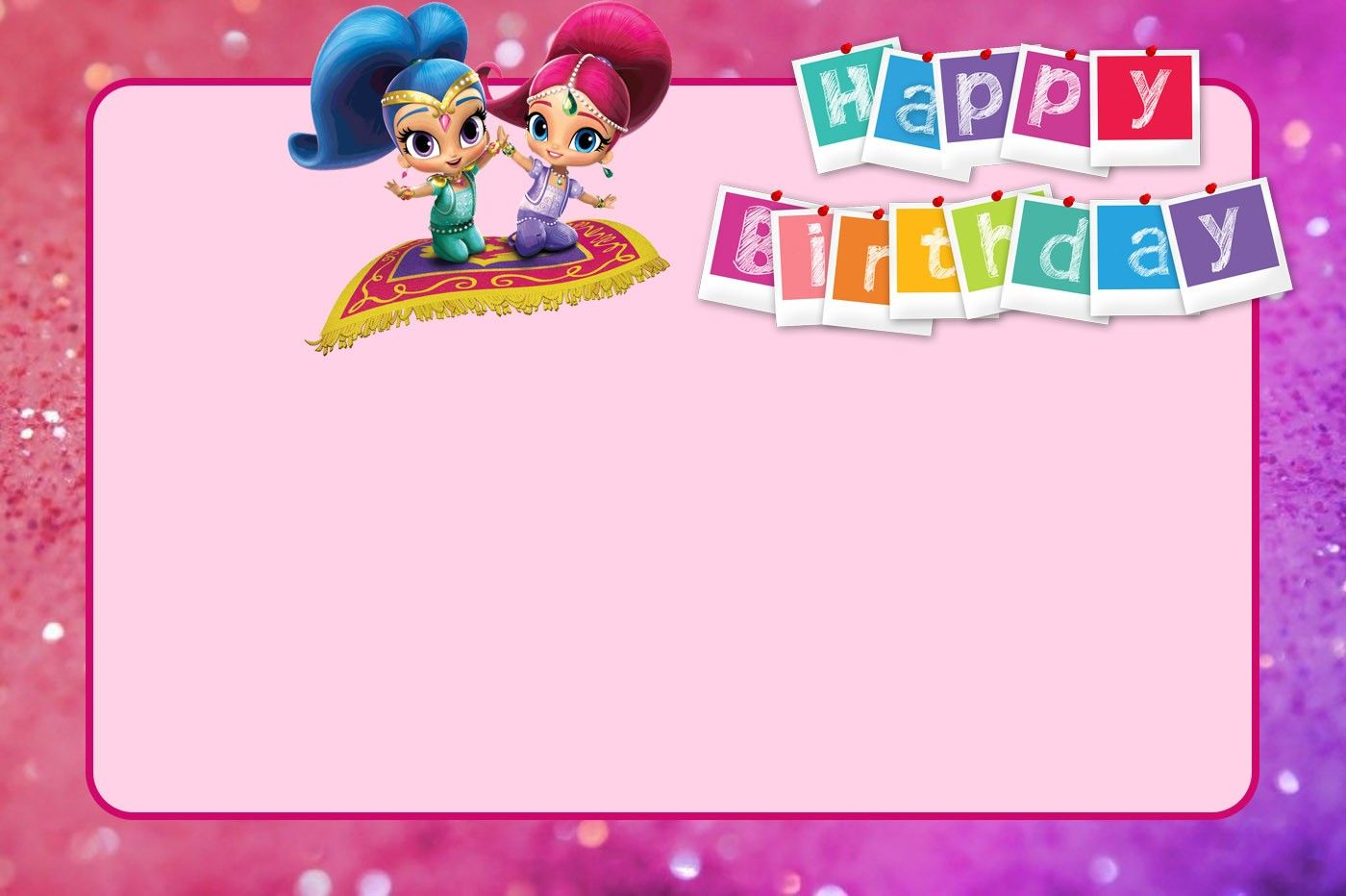 Free Printable Shimmer And Shine Birthday Invitation Birthday