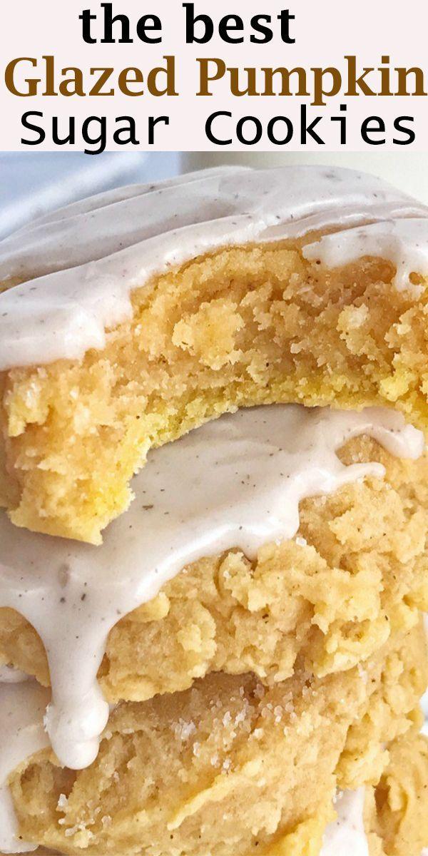 Glazed Pumpkin Sugar Cookies  Glazed Pumpkin Sugar Cookies