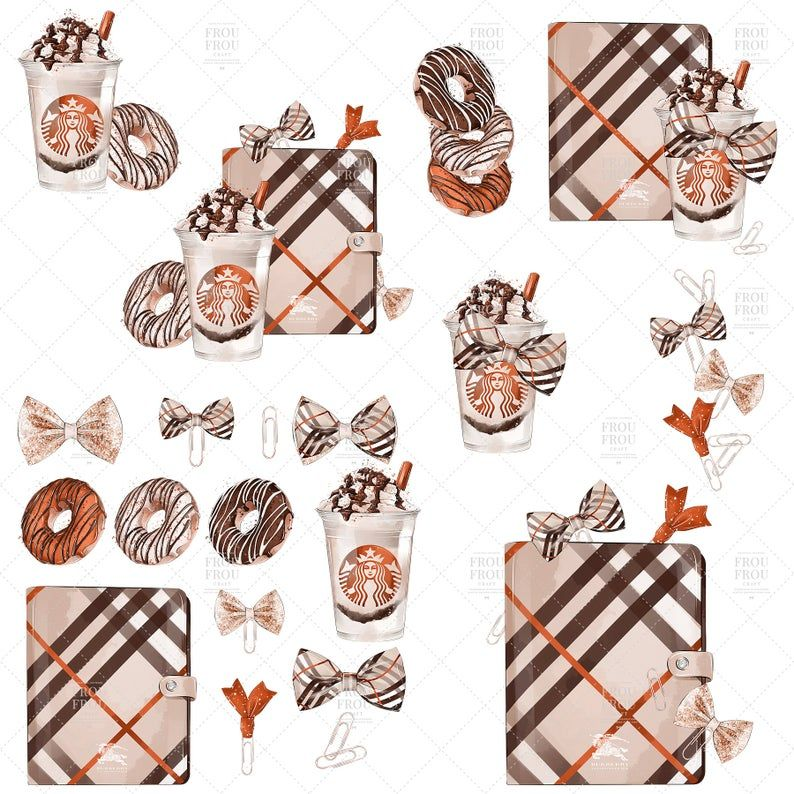 Planner Coffee Clip Art Back To School Clipart Fall ...