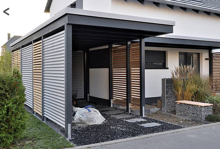 abri contemporain outdoor tonnelle v randa pergola pinterest haus carport und vordach. Black Bedroom Furniture Sets. Home Design Ideas