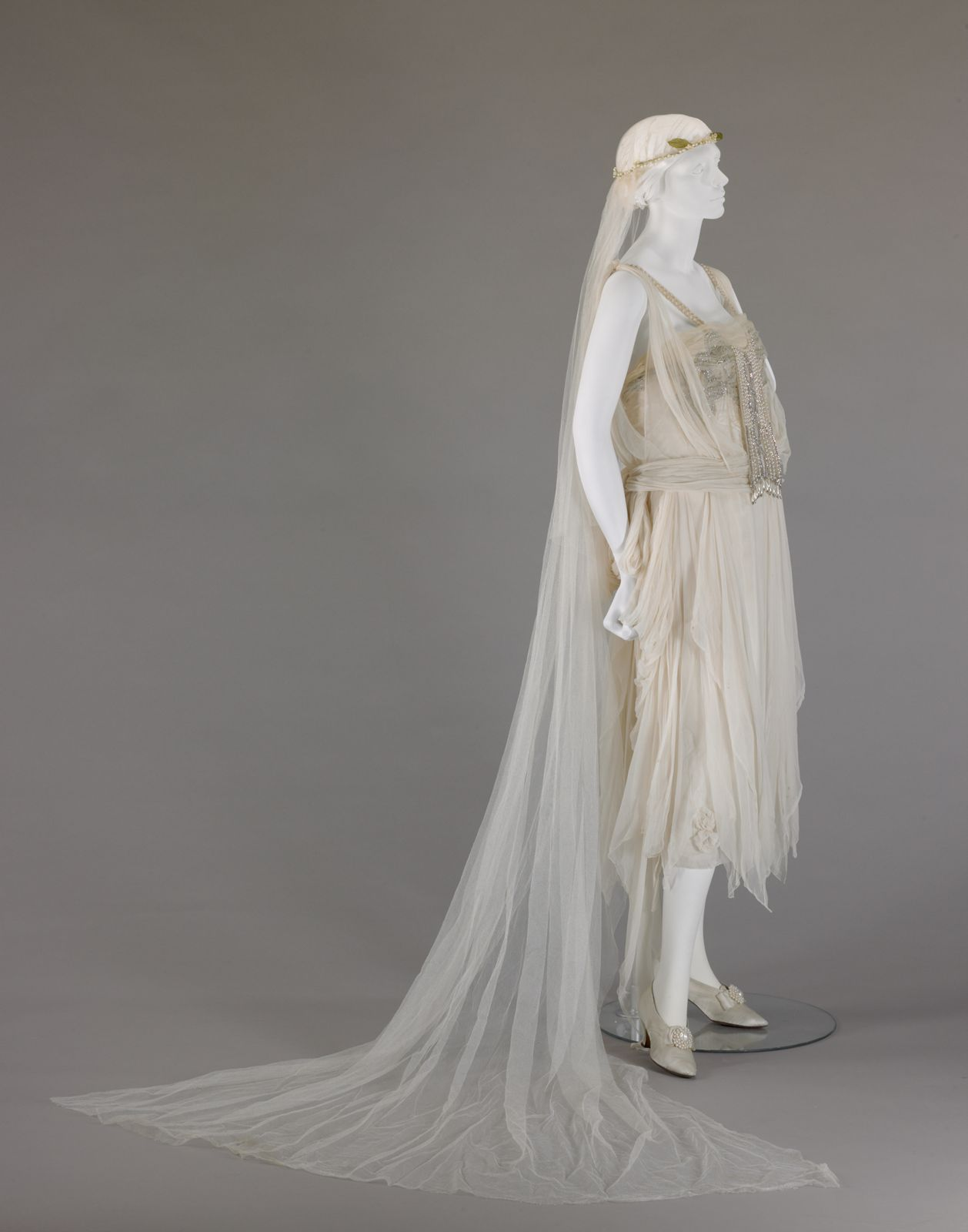 1920 wedding dress  Wedding dress with veil  by George Philip Meier From the