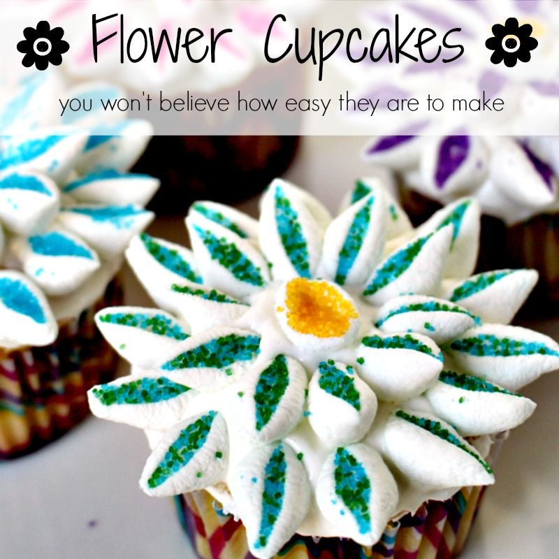 You won't believe how EASY these beautiful flower cupcakes ...