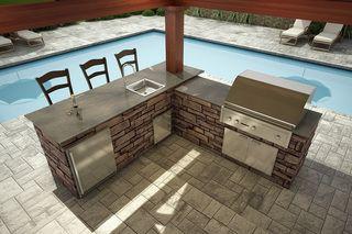 El Dorado Unfinished L Shaped Outdoor Kitchen Outdoorkitchenkit Outdoor Kitchen Grill Diy Outdoor Kitchen Backyard Kitchen