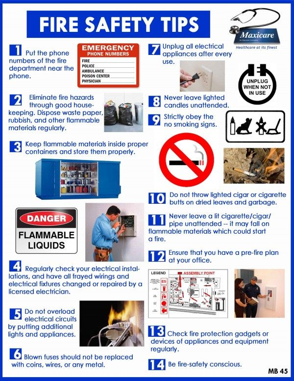 14 Fire Safety Tips Pictures Gallery