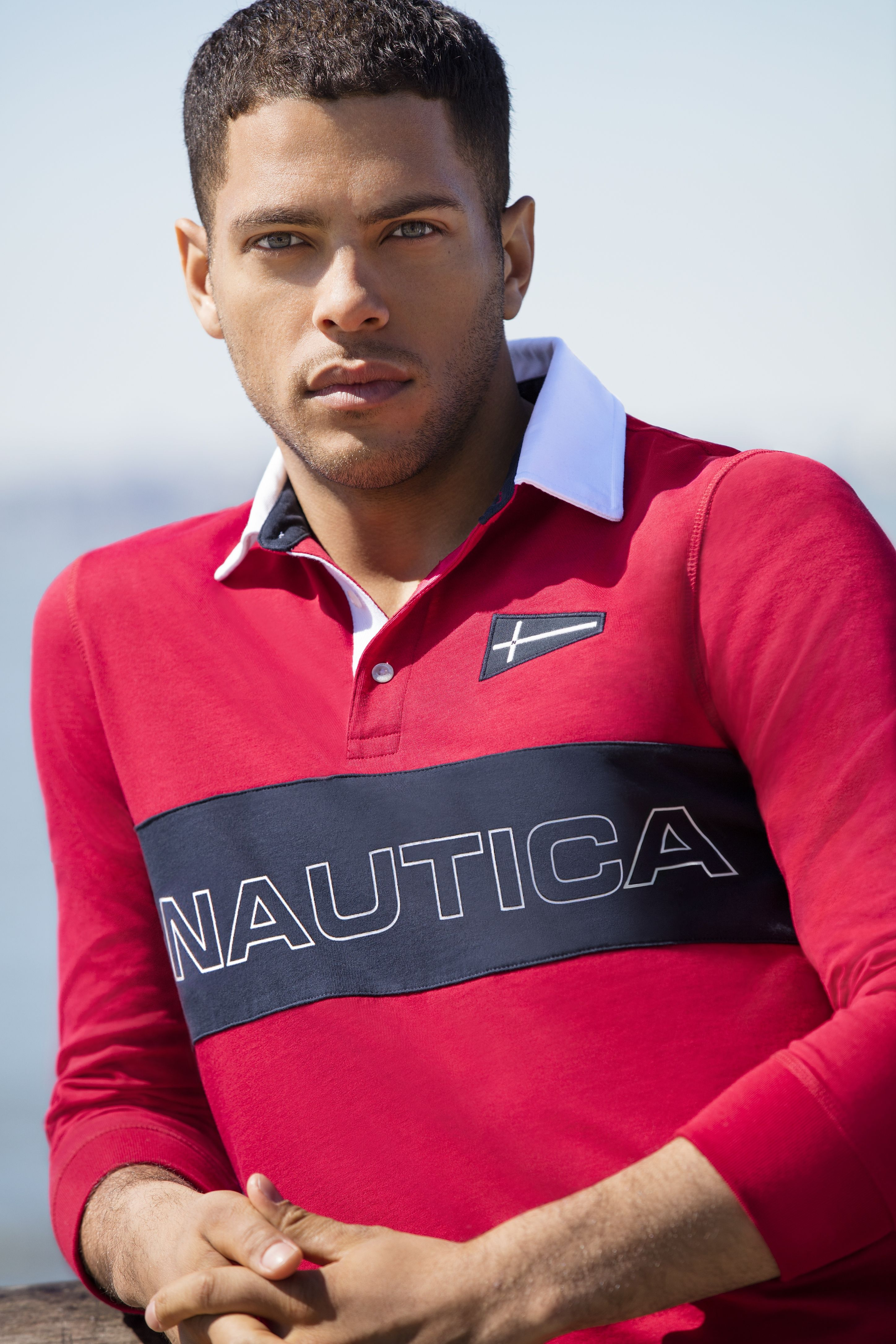 c7677f93 The Nautica Fall 2017 Collection featuring Nautica Men's Heritage Chest Logo  Long Sleeve Polo Shirt