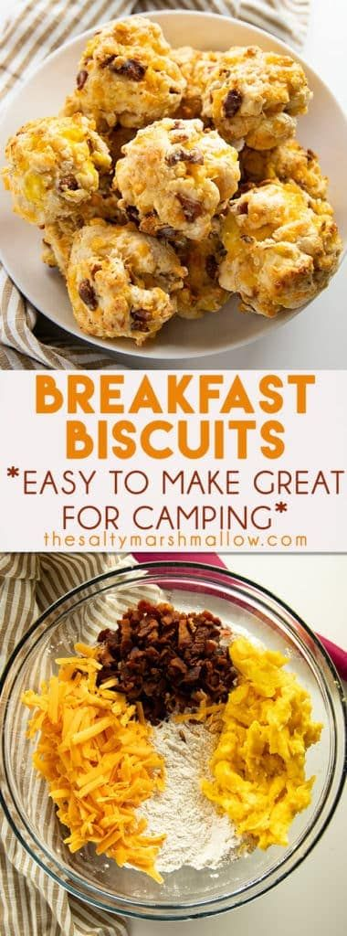 Loaded Breakfast Biscuits #tailgatefoodmakeahead
