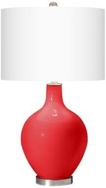 Poppy Red Ovo Table Lamp - EuroStyleLighting.com