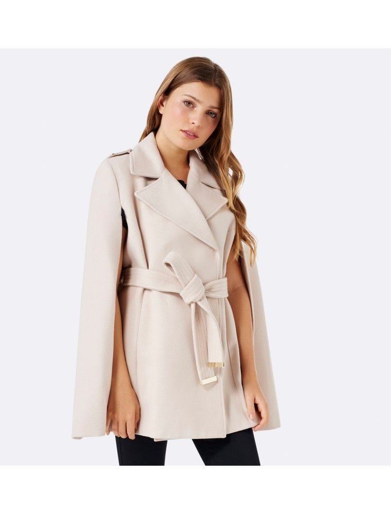 Petite Alana Cape Coat Cream - Womens Fashion | Forever New ...