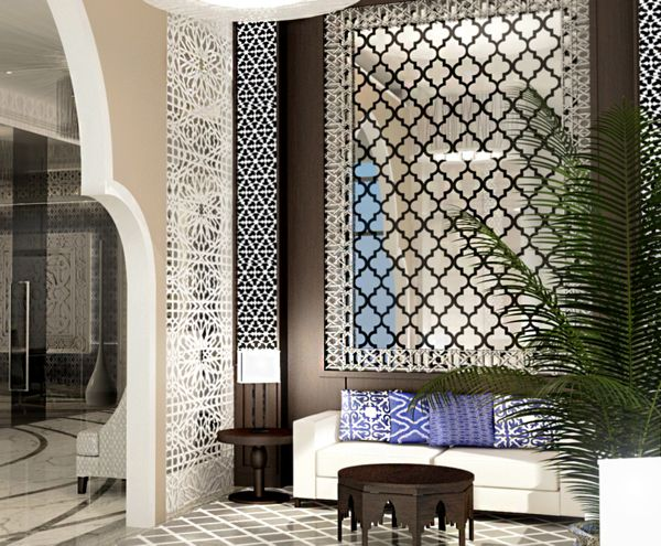 hotel apartment moroccan designjieda sweid, via behance
