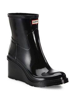 Hunter - Original Refined Short Mid-Wedge Gloss Rain Boots