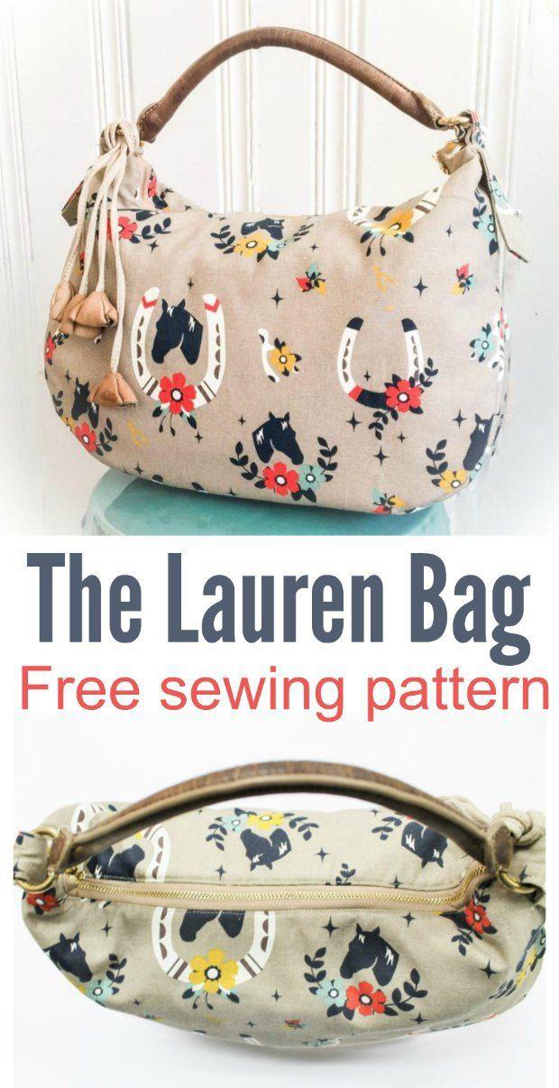 Lauren purse pattern - free | Pinterest | Bolsos de tela, Bolsos y ...